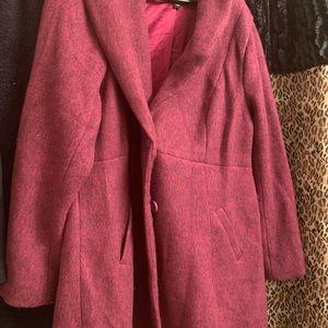 TORRID Purple Car Coat. NWOT, Size 1 (1X, 14-16)